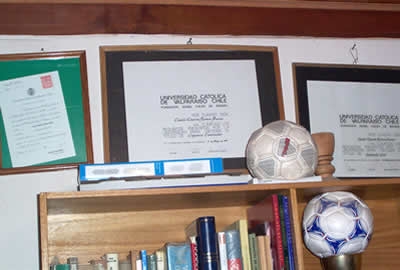 ...me titulé de constructor en el año'70, y no ejercí porque estaba bien en el fútbol...