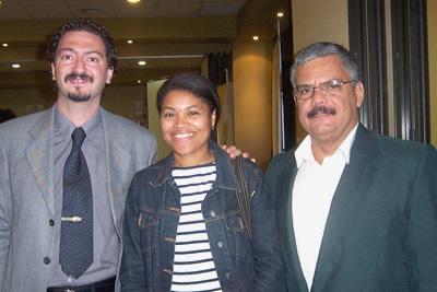 Ps. Alicia Romero, Directora Ejecutiva de Fundación ASCIENDE® junto a los psicólogos Marcelo Roffé (Izquierda) de Argentina y Luis Gustavo Gonzalez (derecha) de Cuba.