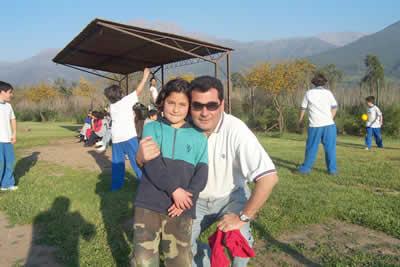 Pablo Rosende e hija.