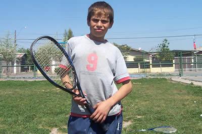 Los sueños de niños tenistas.