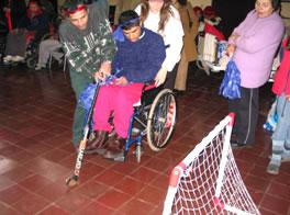 que las personas que ahí concurren para recuperarse mostraran sus avances divirtiéndose y compartiendo con los demás discapacitados y sus familias.