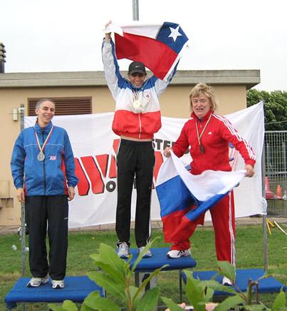 Paola Olivari, Vice-Campeona de 400 metros con vallas categoría 35 años.