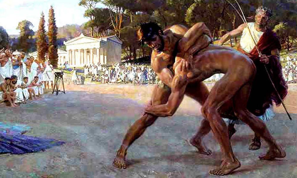 Los juegos Olímpicos se conocían en la antigua Grecia desde el año 776 a.C. Se iniciaron en la ciudad de Olimpia, de ahí su nombre.